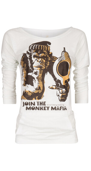 Nihil Monkey Shot Shirt Women Spa White